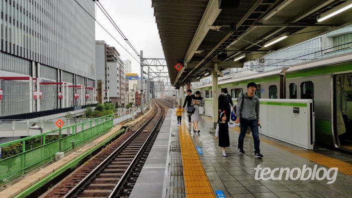 Linha de trem urbano em Tóquio (Imagem: André Fogaça/Tecnoblog)