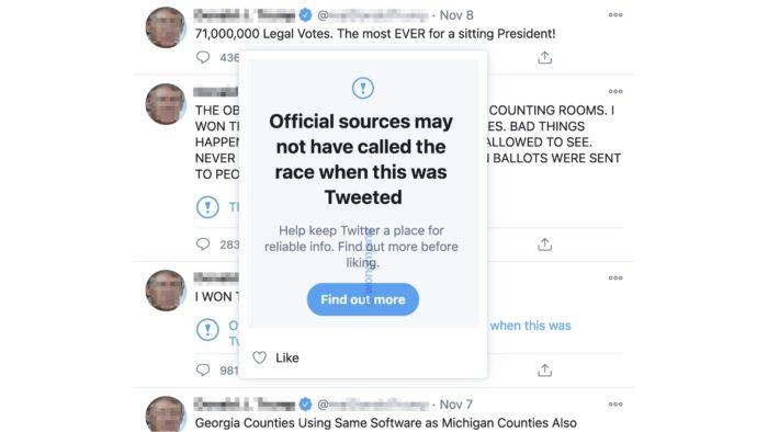 Twitter prepara alertas ao curtir tweets com informações falsas (Imagem: Reprodução/Jane Manchun Wong)