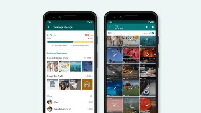 WhatsApp ganha ferramenta para liberar espaço no celular (Imagem: Divulgação/WhatsApp)