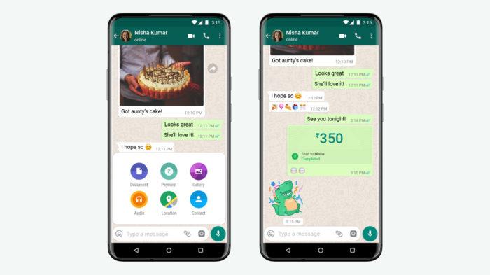 WhatsApp Pagamentos foi autorizado na Índia (Imagem: Divulgação/WhatsApp)