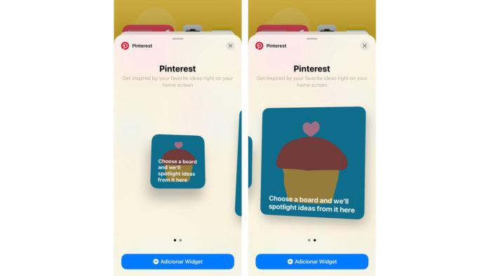 Widget do Pinterest para iPhone