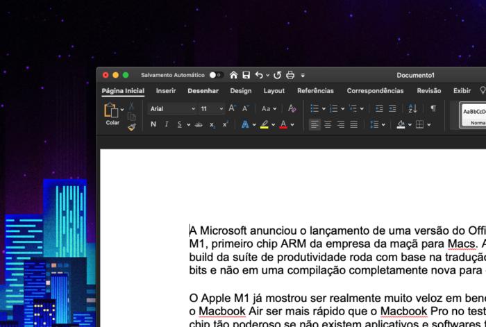 Word para Mac, dentro do Office (Imagem: reprodução/Office)