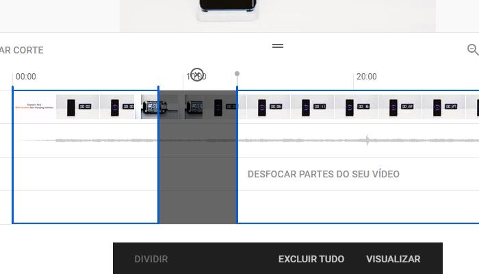 É possível remover apenas uma parte do vídeo (Imagem: Reprodução/YouTube)