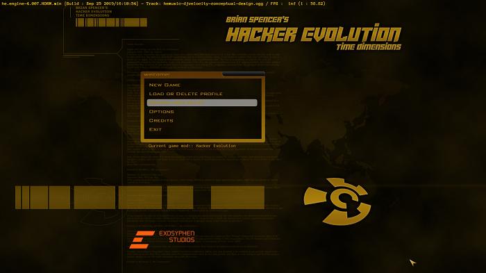 Hacker Evolution tela inicial (Imagem: Leandro Kovacs/Reprodução)