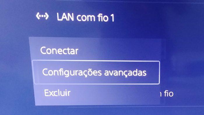 Como configurar a internet do PS5 manualmente