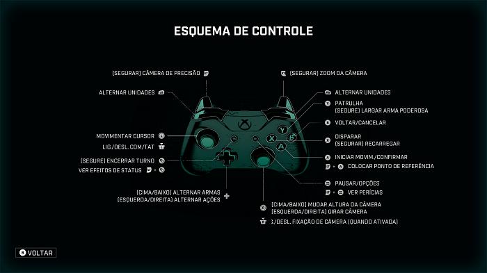 Comandos Gears Tactics (Imagem: Leandro Kovacs/Reprodução)