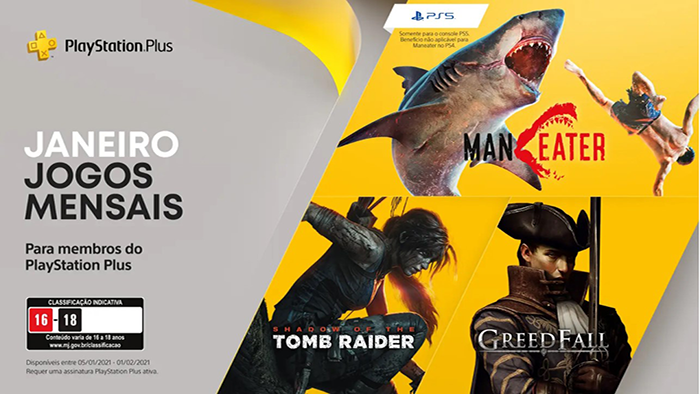 PS Plus de janeiro (Imagem: Divulgação / PlayStation)