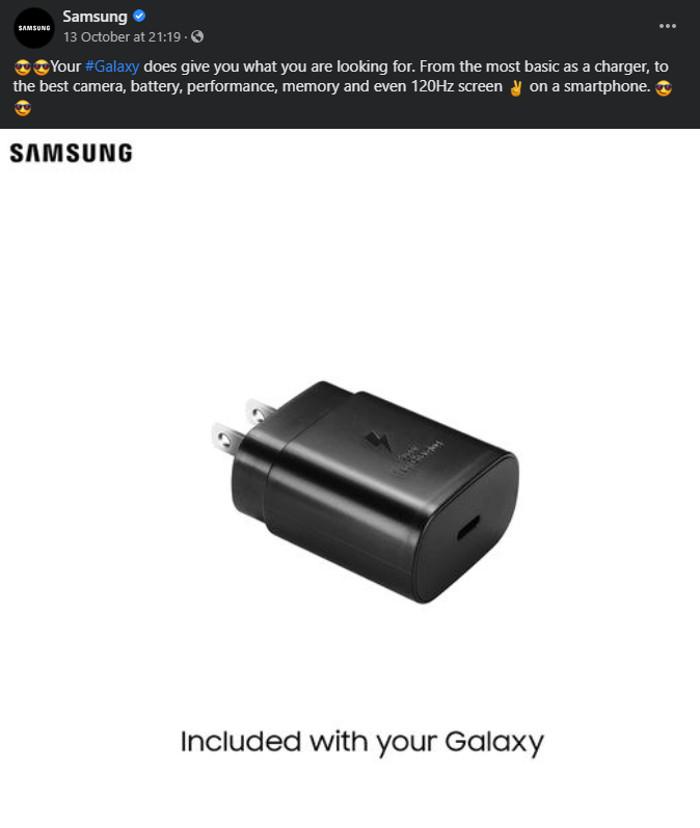 Samsung deu indireta para Apple (Imagem: Reprodução/Facebook)