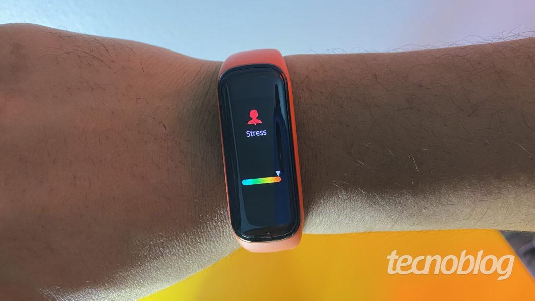 Nível de estresse no Samsung Galaxy Fit 2 (Imagem: Darlan Helder/Tecnoblog)