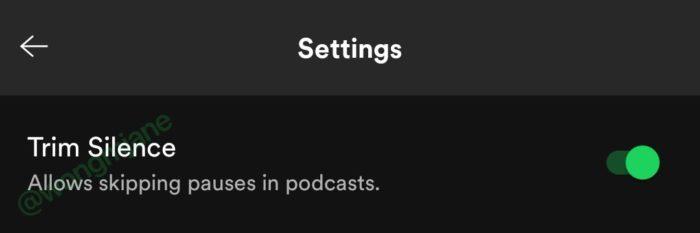 Spotify testa pular pausas com silêncio em podcasts (Imagem: reprodução/Jane Manchun Wong)