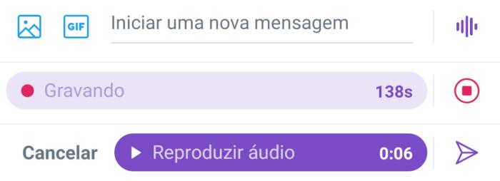 3 passos para enviar DM de áudio no Android (Imagem: Reprodução/Twitter)