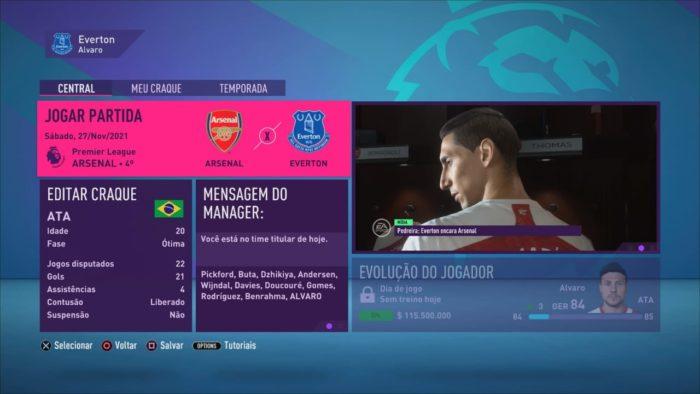 Modo Carreira: Seja um técnico ou um jogador (Imagem: Reprodução / FIFA 21)