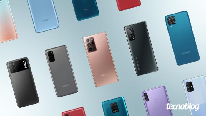 Xiaomi e Samsung lançaram, praticamente, um celular por semana em 2020 (Imagem: Vitor Pádua/Tecnoblog)