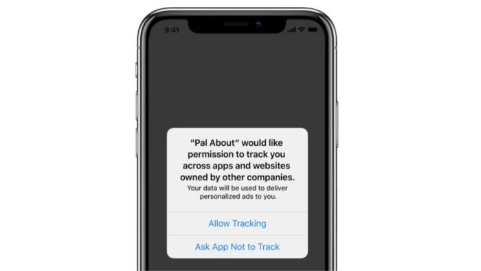 Alerta de privacidade do iOS