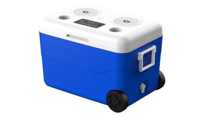Cooler com caixa de som Bluetooth embutida (Imagem: Reprodução/Anatel)