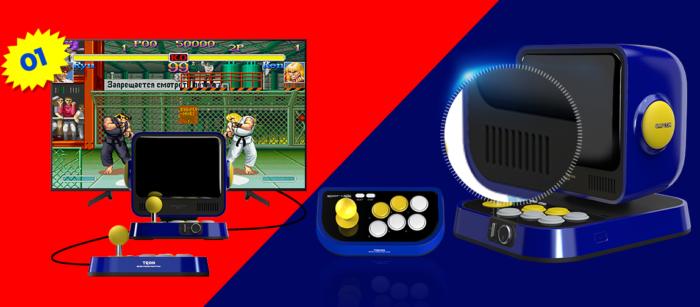 Fliperama da Capcom vem com 10 jogos na memória (Imagem: Divulgação/Capcom)