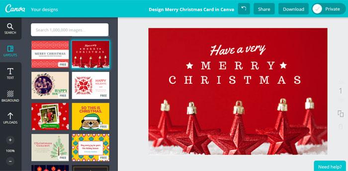 Criando cartão de natal digital no Canva