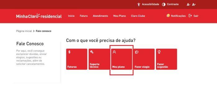 Como cancelar a Claro NET (Imagem: Reprodução / Claro)
