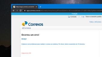 Falha no site dos Correios impede acesso a serviços nesta terça (8)