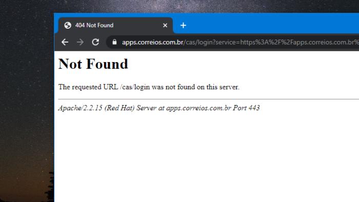 Site dá erro 404 (Image: Reprodução)
