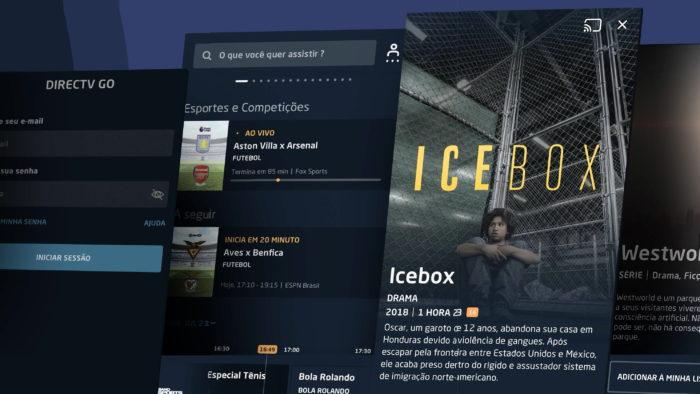 App do DirecTV Go (Imagem: Reprodução/App Store)