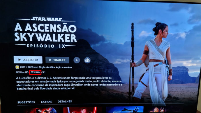 Star Wars: A Ascensão Skywalker é compatível com Dolby Vision (Imagem: Ronaldo Gogoni/Tecnoblog)