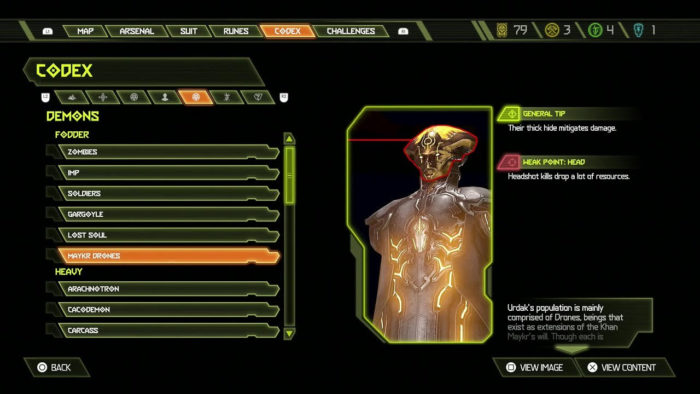 Códice de Doom Eternal (Imagem: Divulgação/id Software/Bethesda Softworks)