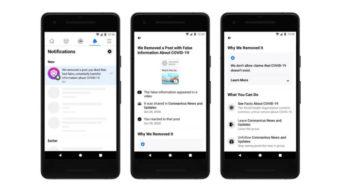 Facebook notifica usuários que curtiram fake news sobre COVID-19
