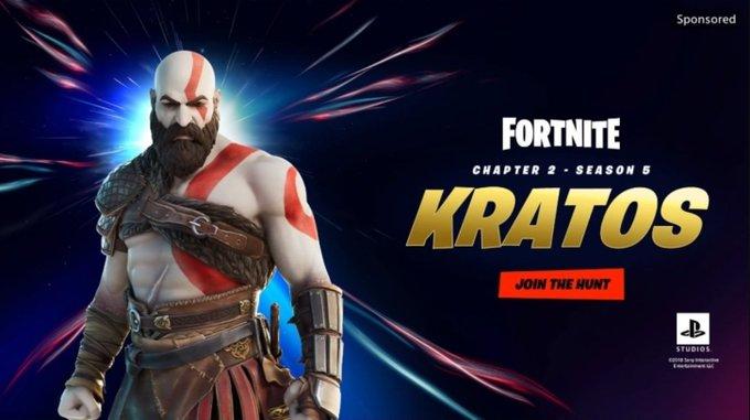 Kratos deve chegar a Fortnite (Imagem: Hypex/Twitter)