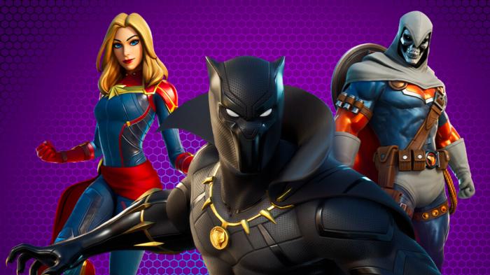 Pantera Negra e outros heróis da Marvel se juntam a Fortnite (Imagem: Divulgação/Epic Games)