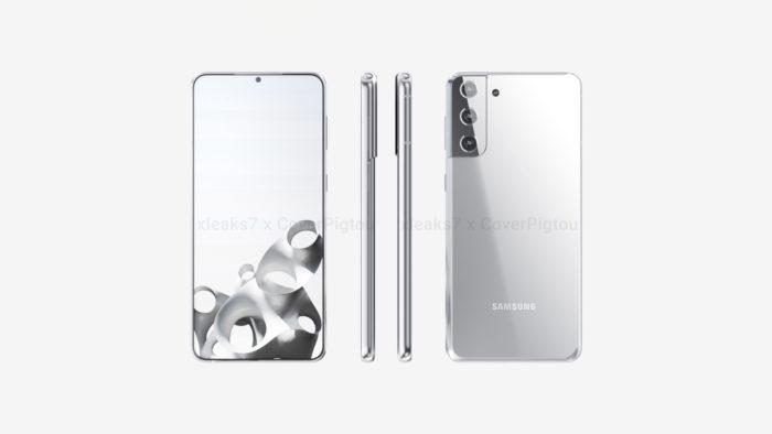 Possível Samsung Galaxy S21+ (Imagem: Reprodução/xleaks7/Pigtou)