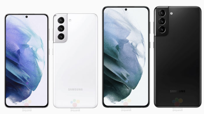 Possíveis Samsung Galaxy S21 e S21+ (Imagem: Reprodução/WinFuture)