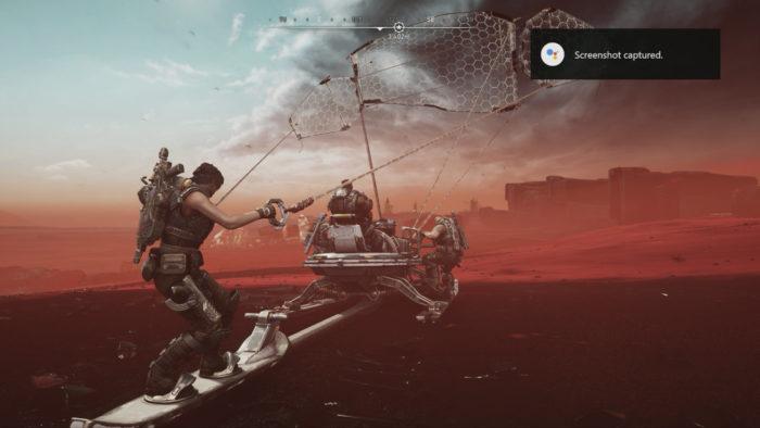 Captura de tela de Gears 5 usando a Google Assistente (Imagem: Reprodução/The Coalition/Xbox Game Studios/Google)