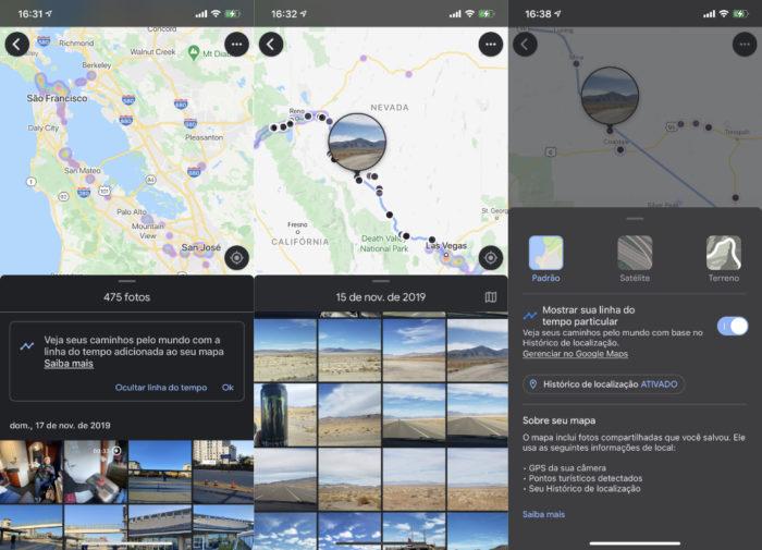 Google Fotos mais integrado ao Maps (Imagem: reprodução)