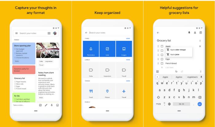Google Keep é o app de notas e tarefas do Google