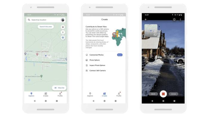 Mapeamento de ruas pelo celular (Imagem: Reprodução/Google)
