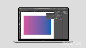 Como mudar a cor do gradiente no InDesign