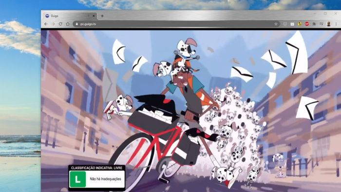 Página da Guigo TV no navegador (Imagem: Reprodução/Guigo TV)