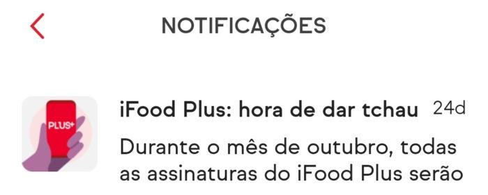 Fim do iFood Plus (Imagem: @pott77/Twitter)