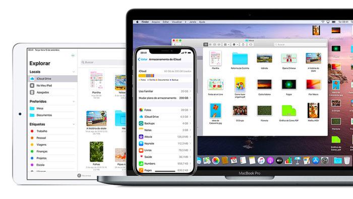 iCloud no iPhone, iPad e MacBook Pro (Imagem: Divulgação/Apple)