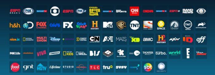 Canais disponíveis na DirecTV Go (Imagem: Reprodução / DirecTV Go)