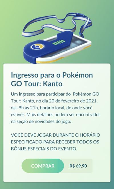 Event ticket (Image: Playback / Pokémon GO)