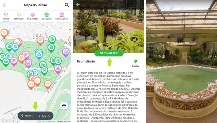 App oferece visão 360º de pontos de visitação (Imagem: Reprodução/Gabrielle Lancellotti)