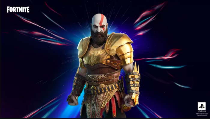 Kratos chega ao Fortnite, com bônus para quem jogar no PS4 e PS5 (Imagem: Epic Games/Divulgação)