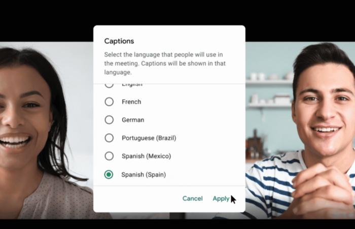 Google Meet gera legendas automáticas em português (Imagem: divulgação/Google)