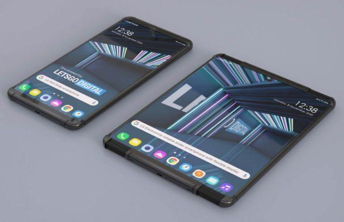 Conceito de smartphone LG com tela extensível (Imagem: reprodução/LetsGoDigital)