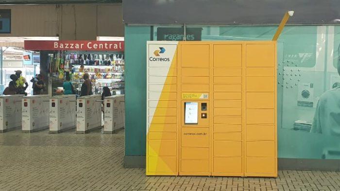 Locker dos Correios na Central do <a href='https://meuspy.com/tag/Alicativo-Espiao-Brasileiro'>Brasil</a> (Imagem: Marcela Castro/Correios/RJ)