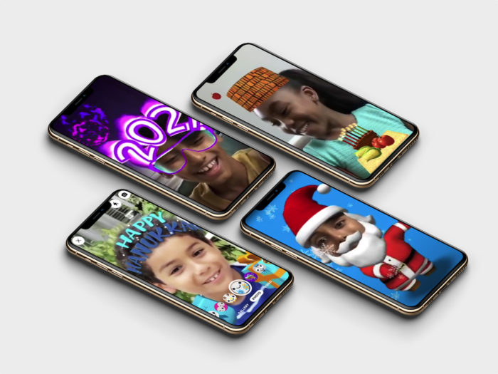 Efeitos natalinos com realidade aumentada chegam ao Messenger Kids (Imagem: divulgação/Facebook)