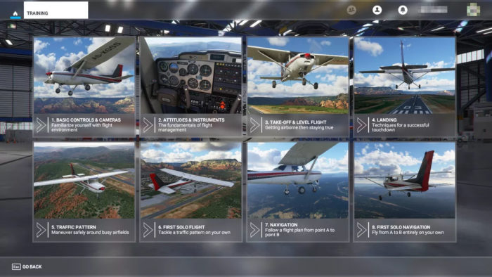 Modo Treinamento de Voo de Microsoft Flight Simulator (Imagem: Asobo Studio/Xbox Game Studios)