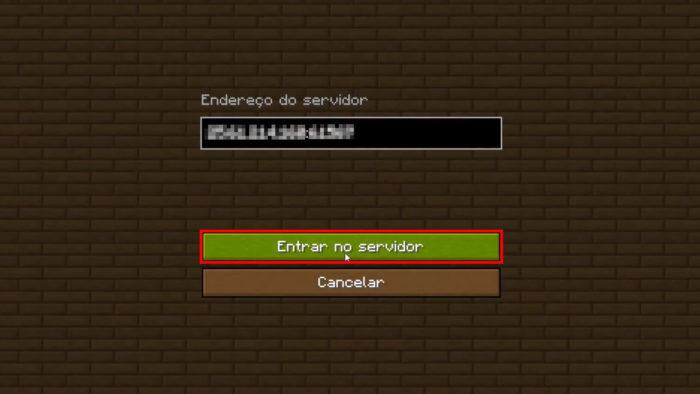 Tela de acesso a servidor LAN em Minecraft (Imagem: Reprodução/Mojang/Xbox Game Studios)